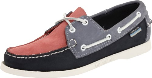 Sebago Women's Spinnaker Boat Shoe,Pink/Navy/Blue,7.5 M US