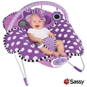 Oversized, cradling seat with newborn headrest