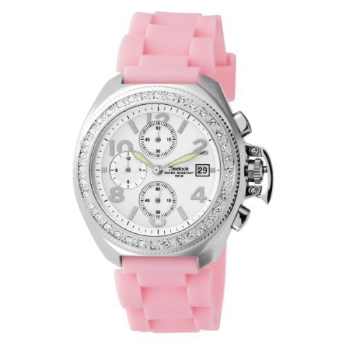 Freelook Women's HA1137-5 Aquamarina stainless steel case White Dial Pink Silicon Band Watch
