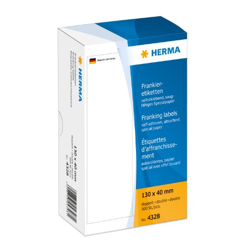 Herma 4328 Frankier-Etiketten doppelt, 130 x 40 mm, 500 Stück