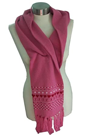 Womens Girls Trespass Knitted Scarf Pink One Size