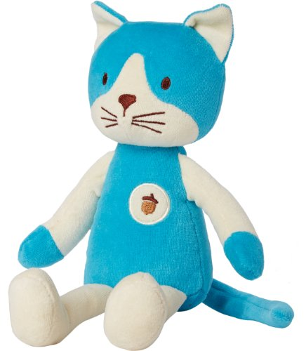 My Natural Plush Toy, Blue Cat front-132837