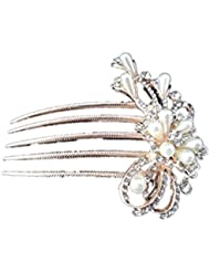 Imported Rose Gold Hair Comb Clip Hairpin Jewelry Pearls Alloy Hair Accessory