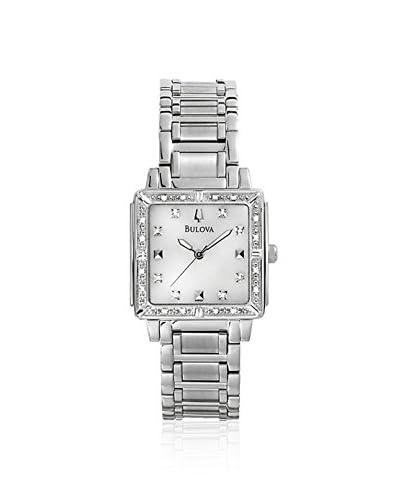 Bulova Women's 96R107 Silver/White MOP Stainless Steel Watch