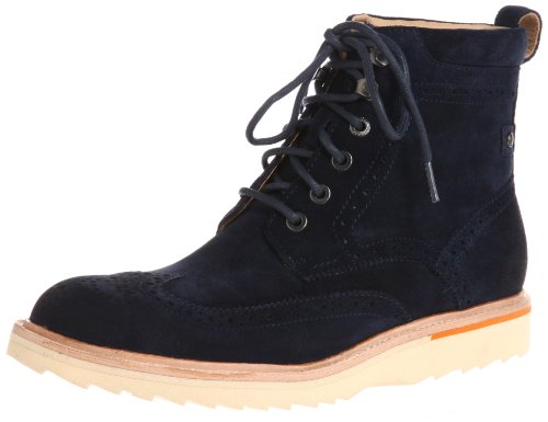 Rockport Men's Union Street Wing Tip Boot, Blue, 7 M US