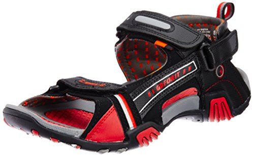 Sparx-Mens-Black-and-Red-Sandals-and-Floaters-8-UK-SS0430G