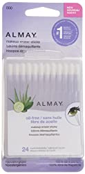 Almay Oil-Free Makeup Eraser Sticks, 24 Count (Pack of 2)