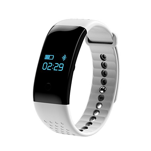 Smart Bluetooth 4.0 Bracelet Heart Rate Monitor Sports Fitness Tracker Step Pedometer Calories Tracking Calls SMS Alarm Clock Reminder Remote Control Sleep Monitor for iPhone Android System