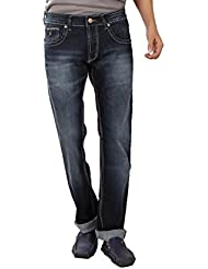 Spike Denim Co Men's Slim Fit Faded Jeans - Dark Blue
