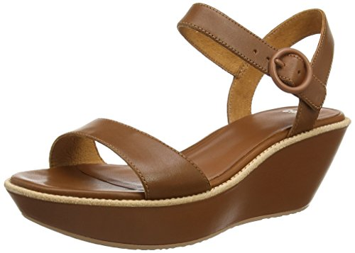 Camper Damas - Sandali con Zeppa Donna, Marrone (Brown 032), 42 EU