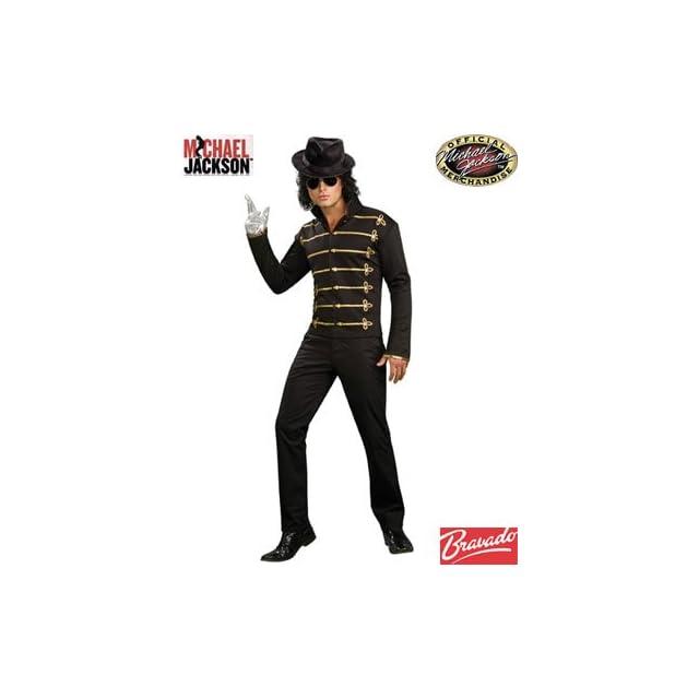 Adult Mens Michael Jackson Black Gold Military Jacket