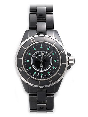 Chanel J12 Black Emeralds Unisex Watch H2130