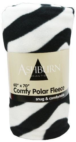 "Zebra Print Comfy Polar Fleece Throw Blanket 60"" X 70"" - Bigger Better Softer front-1027965"