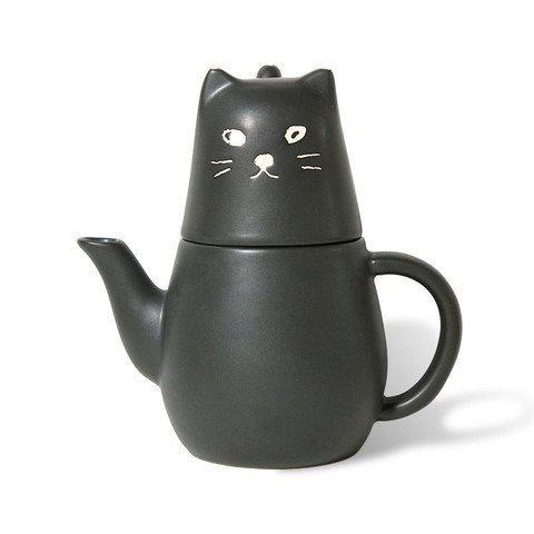 Black Cat Tea For One Set By San Art