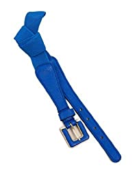 MOD 20 Women's Elastic Square Buckle Belt Royal Blue OS(7498)