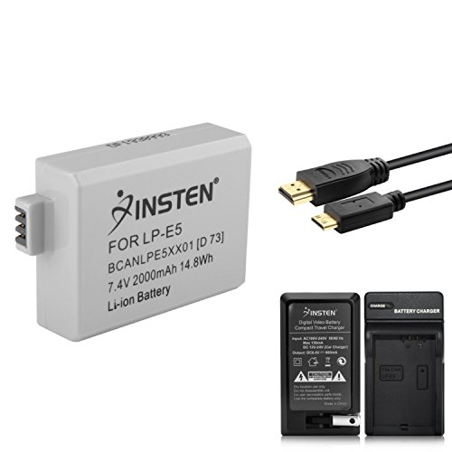 insten-6-ft-hdmi-to-mini-hdmi-cable-battery-pack-with-charger-compatible-with-canon-lp-e5-digital-re