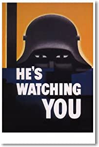 Amazon.com: He's Watching You - Vintage Reprint Poster: Prints