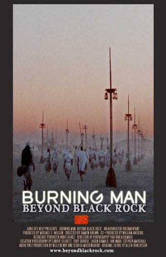 Burning man beyond black rock movie poster 27 x 40 for Dujardin salomone