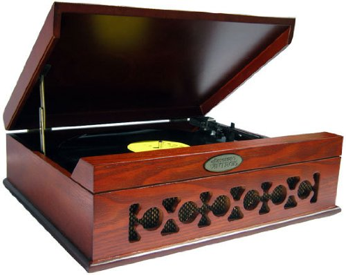 Vintage-Style-PhonographTurntable-With-USB-To-PC-Connection-Mahogany