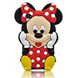 Disney 3D Cute Soft Silicone Cover Cases for Ipod Touch 4th generation (Mickey mouse Red-10)
