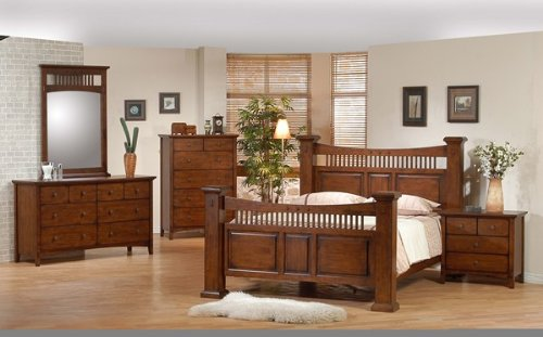 5PC Jackson City Collection California King Size Bed Complete Bedroom Set