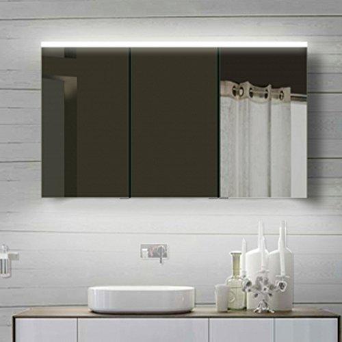 Top armadietto a specchio con Alu-Rahmen Badspiegel Lichtspiegel, 120x70