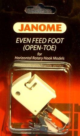 Janome Even Feed Foot (Open Toe) Horizontal Rotary Hook Models