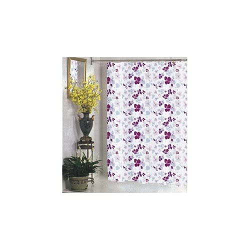 Amazon.com: Joanne Fabric Shower Curtain Purple Violet Floral Print ...