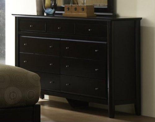 Modus Furniture City II Nine Drawer Dresser, Coco