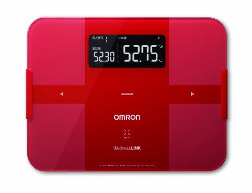 オムロン 体重・体組成計 カラダスキャン PC・スマホ対応 レッド HBF-252F-R2