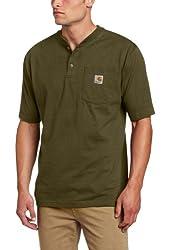 Carhartt Men's Short Sleeve Henley Work Shirt Big And Tall