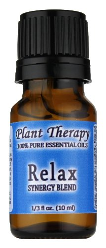 Relax Synergy (Mental Relaxation) Essential Oil Blend. 10 ml. 100% Pure, Undiluted, Therapeutic Grade. (Blend of: Lavender, Marjoram, Patchouli, Mandarin, Geranium and Chamomile)