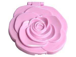Taschenspiegel Rosenförmig 8.5 Cm Groß (Pink)