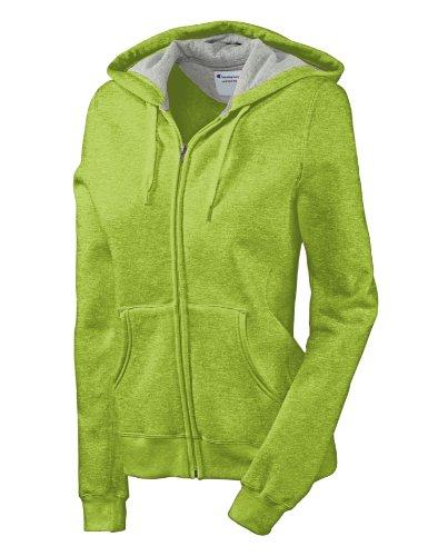 Champion EcoTM Fleece Full-Zip Women's Hoodie Jacket, S-Mystical Green Heather