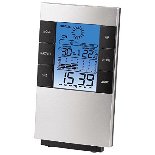 """Hama LCD-Thermo-/Hygrometer """"TH-200"""", mit Uhr, Datum und Wecker"""