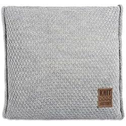 Knit Factory 091211 Dekokissen Strickkissen Jesse mit Füllung, 50 x 50 cm, grau