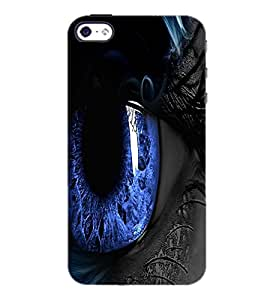 PrintDhaba Blue Eyes D-3332 Back Case Cover for APPLE IPHONE 5S (Multi-Coloured)