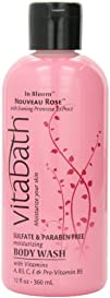 Vitabath Bath and Shower Gel Nouveau Rose 12 Ounce
