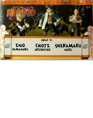 Picture of Mattel Naruto Battle Pack Squad 10 Figure Set (B000MVRI66) (Naruto Action Figures)