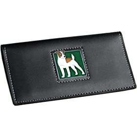 Jack Russell Terrier Check Book Cover