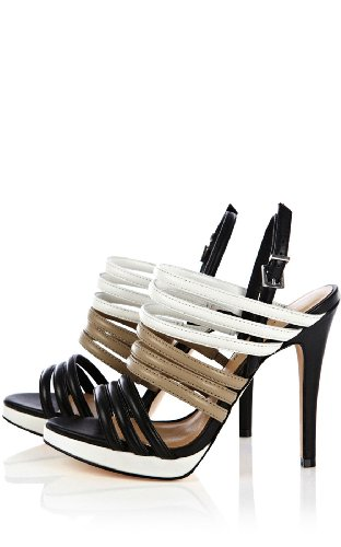 Color Contrast Strappy Sandal