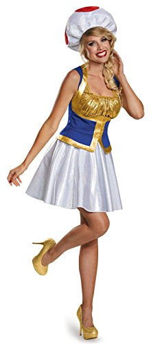 Super Mario Bros: Girls Toad Costume For Tweens