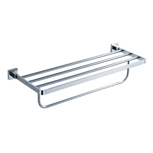 Kraus KEA-14442CH Aura Bathroom Bath Towel Rack with Towel Bar