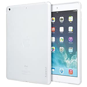Juppa® Apple Ipad Air / Ipad 5 5th Gen 2013 TPU Gel Case with Screen Protector, Micro Fibre Cleaning Cloth and Application Card (Clear)