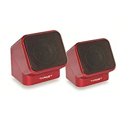 HORSEWAY Target Multimedia Mini Speakers - Red Color
