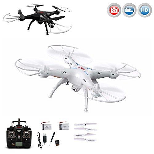 X5SC-1 Explorers 2 PRO HD-Edition Quadrocopter von Syma, Neueste UPGRADE Version 4.5-Kanal RC ferngesteuerte 3D Drone 2.4GHz- und Headless-Technologie, optional mit FPV-Kit erweiterbar, inkl. HD Kamera-Set, 2x LiPo-Akku, Ersatzteil-Set, Ready-to-Fly RTF