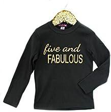 MADGrrl Five and Fabulous Birthday Shirt Long Sleeves