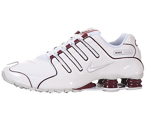 01fbd95e87d874 The Features Nike Men s NIKE SHOX NZ RUNNING SHOES 9 5 Men US WHITE WHITE  TEAM RED PR PLTNM -