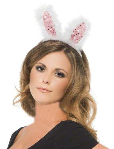 blinkende bunny ohren haarreif fasching karneval. Black Bedroom Furniture Sets. Home Design Ideas