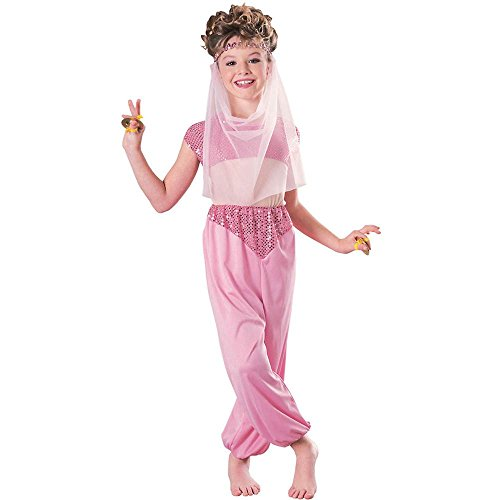 Rubie's Girls Pink Arabian Harem Girl Costume (Arabian Costumes For Girls)